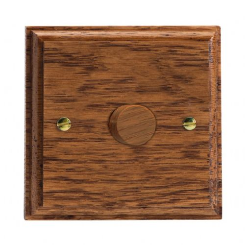 Varilight HK3MO Kilnwood Medium Oak 1 Gang 2-Way Push-On/Off Dimmer 60-400W V-Dim